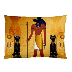 Anubis, Ancient Egyptian God Of The Dead Rituals  Pillow Cases (two Sides) by FantasyWorld7