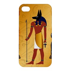 Anubis, Ancient Egyptian God Of The Dead Rituals  Apple Iphone 4/4s Hardshell Case by FantasyWorld7