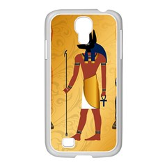 Anubis, Ancient Egyptian God Of The Dead Rituals  Samsung Galaxy S4 I9500/ I9505 Case (white) by FantasyWorld7