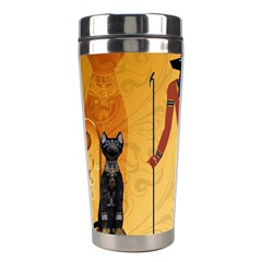 Anubis, Ancient Egyptian God Of The Dead Rituals  Stainless Steel Travel Tumblers by FantasyWorld7