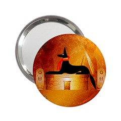 Anubis, Ancient Egyptian God Of The Dead Rituals  2 25  Handbag Mirrors by FantasyWorld7