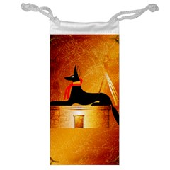 Anubis, Ancient Egyptian God Of The Dead Rituals  Jewelry Bags by FantasyWorld7