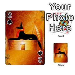 Anubis, Ancient Egyptian God Of The Dead Rituals  Playing Cards 54 Designs  by FantasyWorld7