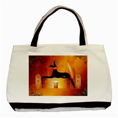 Anubis, Ancient Egyptian God Of The Dead Rituals  Basic Tote Bag  by FantasyWorld7