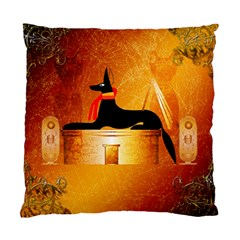 Anubis, Ancient Egyptian God Of The Dead Rituals  Standard Cushion Cases (two Sides)  by FantasyWorld7