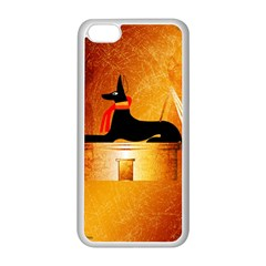 Anubis, Ancient Egyptian God Of The Dead Rituals  Apple Iphone 5c Seamless Case (white) by FantasyWorld7