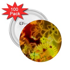 Glowing Colorful Flowers 2 25  Buttons (100 Pack)  by FantasyWorld7
