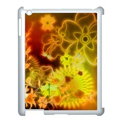 Glowing Colorful Flowers Apple Ipad 3/4 Case (white) by FantasyWorld7