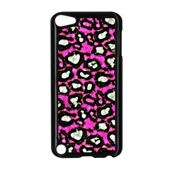 Pink Cheetah Print  Apple Ipod Touch 5 Case (black) by OCDesignss