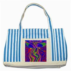 Transcendence Evolution Striped Blue Tote Bag  by icarusismartdesigns