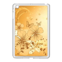 Wonderful Flowers With Butterflies Apple Ipad Mini Case (white) by FantasyWorld7