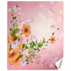 Beautiful Flowers On Soft Pink Background Canvas 16  X 20   by FantasyWorld7