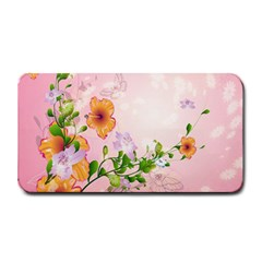 Beautiful Flowers On Soft Pink Background Medium Bar Mats by FantasyWorld7