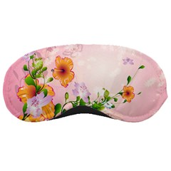 Beautiful Flowers On Soft Pink Background Sleeping Masks by FantasyWorld7