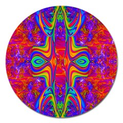 Abstract 1 Magnet 5  (round) by icarusismartdesigns