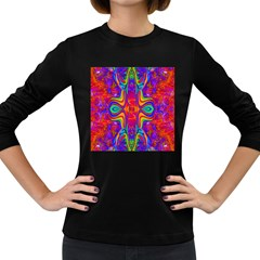 Abstract 1 Women s Long Sleeve Dark T Shirts by icarusismartdesigns