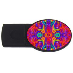 Abstract 1 Usb Flash Drive Oval (4 Gb)  by icarusismartdesigns