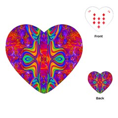 Abstract 1 Playing Cards (heart)  by icarusismartdesigns