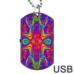 Abstract 1 Dog Tag Usb Flash (two Sides)  by icarusismartdesigns