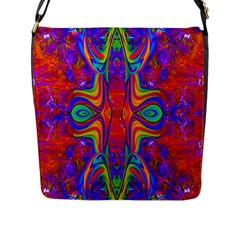 Abstract 1 Flap Messenger Bag (l)  by icarusismartdesigns