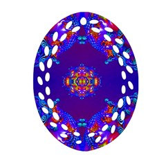 Abstract 2 Ornament (oval Filigree)  by icarusismartdesigns