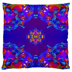 Abstract 2 Large Flano Cushion Cases (one Side)  by icarusismartdesigns
