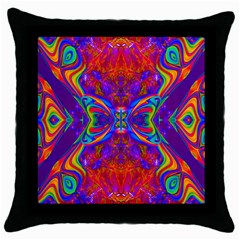 Butterfly Abstract Throw Pillow Case (black) by icarusismartdesigns