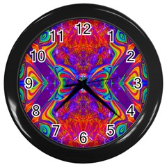 Butterfly Abstract Wall Clock (black) by icarusismartdesigns