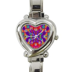 Butterfly Abstract Heart Italian Charm Watch by icarusismartdesigns