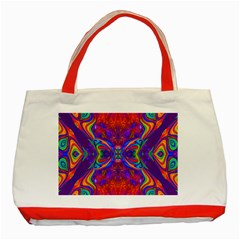 Butterfly Abstract Classic Tote Bag (red) by icarusismartdesigns
