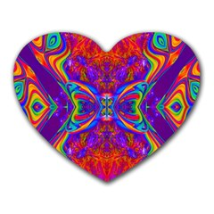 Butterfly Abstract Heart Mousepad by icarusismartdesigns