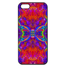 Butterfly Abstract Apple Iphone 5 Seamless Case (black) by icarusismartdesigns