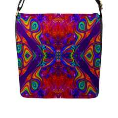 Butterfly Abstract Flap Closure Messenger Bag (l) by icarusismartdesigns
