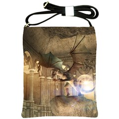 The Dragon Shoulder Sling Bags by FantasyWorld7