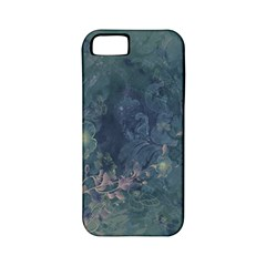 Vintage Floral In Blue Colors Apple Iphone 5 Classic Hardshell Case (pc+silicone) by FantasyWorld7