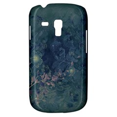 Vintage Floral In Blue Colors Samsung Galaxy S3 Mini I8190 Hardshell Case by FantasyWorld7