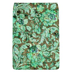 Beautiful Floral Pattern In Green Flap Covers (l)  by FantasyWorld7