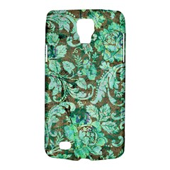 Beautiful Floral Pattern In Green Galaxy S4 Active by FantasyWorld7