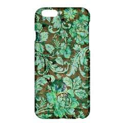 Beautiful Floral Pattern In Green Apple Iphone 6/6s Plus Hardshell Case by FantasyWorld7