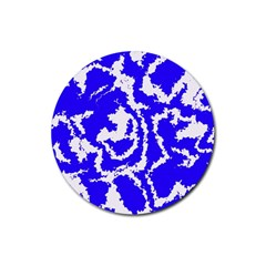 Migraine Blue Rubber Round Coaster (4 Pack)