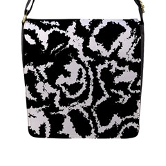 Migraine Bw Flap Messenger Bag (l)  by MoreColorsinLife