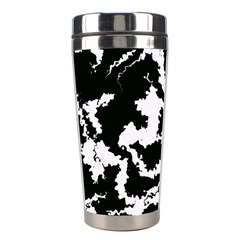 Migraine Bw Stainless Steel Travel Tumblers by MoreColorsinLife