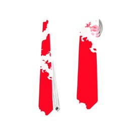 Migraine Red White Neckties (one Side)
