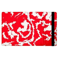 Migraine Red White Apple Ipad 2 Flip Case by MoreColorsinLife