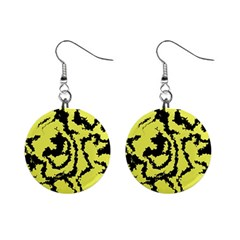 Migraine Yellow Mini Button Earrings