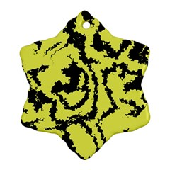Migraine Yellow Snowflake Ornament (2 Side)