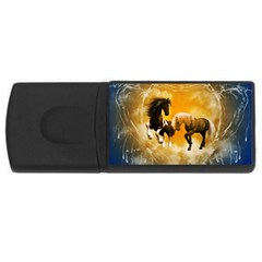 Wonderful Horses Usb Flash Drive Rectangular (4 Gb)  by FantasyWorld7