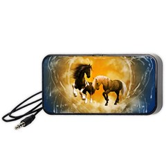 Wonderful Horses Portable Speaker (black)  by FantasyWorld7
