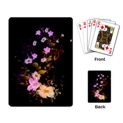 Awesome Flowers With Fire And Flame Playing Card by FantasyWorld7