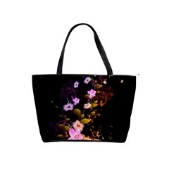 Awesome Flowers With Fire And Flame Shoulder Handbags by FantasyWorld7